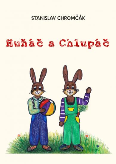 Titulní stránka e-knihy pohádek Huňáč a Chlupáč
